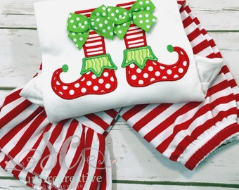 Girl Christmas Shirt & Pants - Girl Christmas Outfit - Toddler Christmas Party Outfit - Ruffle Pants - Christmas Pictures Outfit