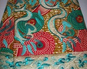 1 Yard Only Embroidery Wax Lace/ African lace and Wax Print Fabric/The latest Style in African Fabrics/Luxury Wax/ African laces
