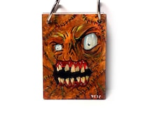 Book of Undead Hand Painted Ring Bound Journal Notebook