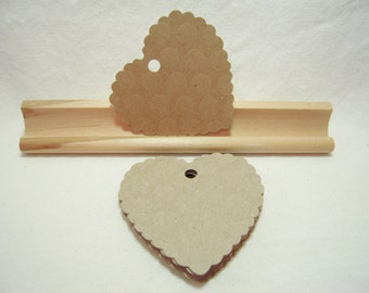 Heart Gift Tags, Kraft Paper Gift Tags, Kraft Paper Heart Tags