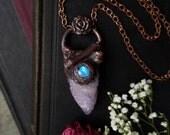 SALE Bone Garden Spirit Quartz Moonstone Necklace // Spirit Quartz Jewelry // Cactus Quartz Crystal Specimen // Fairy Crystal
