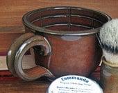 Shaving Mug Lather Bowl Traditional Wet Shave Iron Red