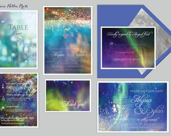 Star/Night Sky/Galaxy/Space/Nebula Themed Wedding Invitations - Starry Night/Whimsical/Watercolor