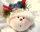 THINK SNOW Christmas Ornament Mittens Townsend Custom Gifts