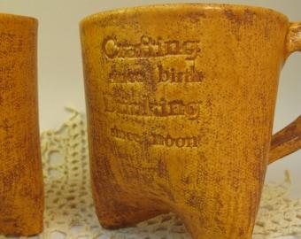 "Pumpkin Spice ""Crafting since Birth, Drinking since Noon"" mug"