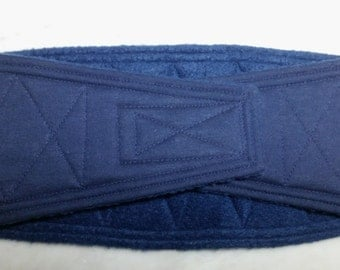 Waist 14.50 x Width 5.00 inches Male Dog Belly Band Wrap Diaper Belt by SewDog 3 Layers Quilted Padded BellyBand #417 NAVY BLUE