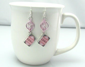 Leaf Library Chainmaille Earrings - Jane Austin