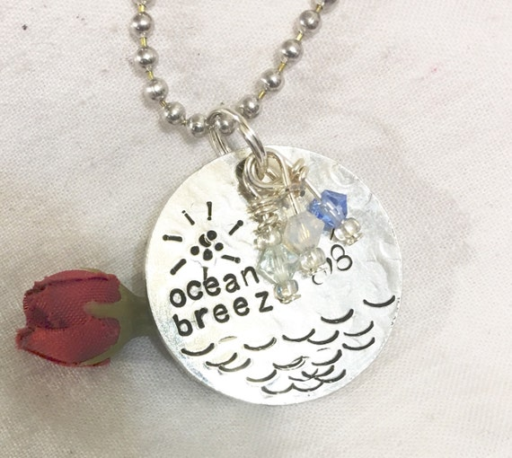 Maine beach sea ocean inspired hand stamped by ...