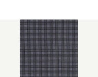 30% OFF store closing 1 yard of Pencil Check in Charcoal from Michael Miller