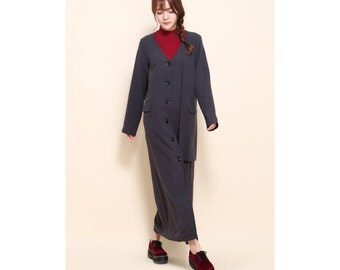 Special Asymmetrical Two layered long coat Dress with big  Pocket/ 10 Colors/ Any size/ RAMIES