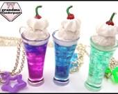 Cosmic Cream Soda, Decora, Ice Cream Necklace, Handmade Soda Float