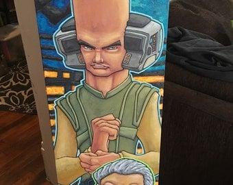 Orginal pop culture painting 15x45 Maydak