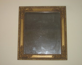 Ornate Gold Mirror, Vintage, Antique, Wall Mirror, Wall Hanging, Hollywood Regency