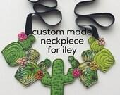 Custom neckpiece for Iley