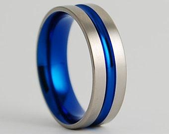 Titanium Ring , Wedding Band , Mens Titanium Wedding Band , Mens Titanium Ring , Mens Promise Ring , Dionysus Band with Comfort Fit Interior