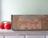 ON HOLD Vintage Wooden Tomatoes Crate