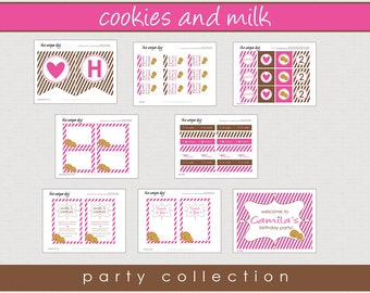 Cookies & Milk Party Collection - Printable Party Collection // CM-03