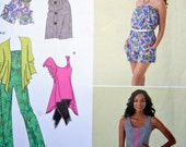 Jumpsuit Dress Cardigan and Top Sewing Pattern Simplicity 2374 Sizes 12 thru 20 UNCUT Bust 34 thru 42
