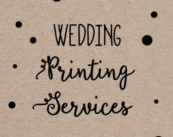 Printing Service Add On for Wedding Invitations and RSVP/Reply Cards one sided, color, Includes shipping and envelopes