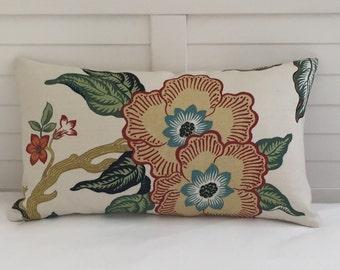 Schumacher Hothouse in Spark Designer Lumbar Pillow Cover 12x20