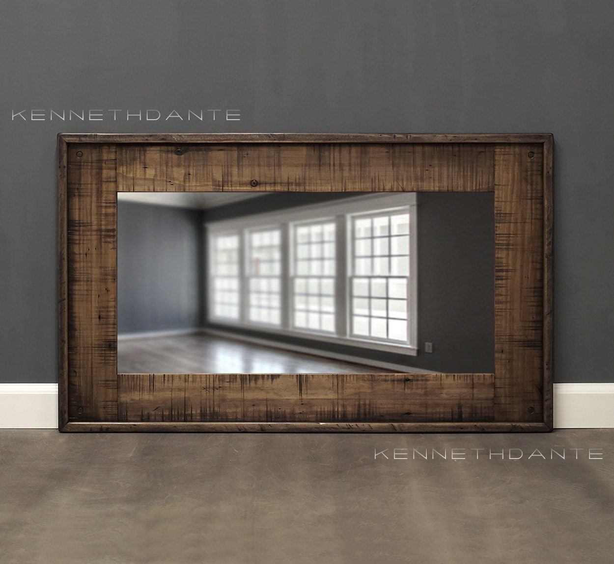 Distressed Wood Mirror Decorative Wall Mirror By Kennethdante