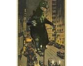 Chicago Art, Chicago Print, Monster Art, Chicago El, Vintage Chicago, Geekery, Kaiju art, Alternate Histories
