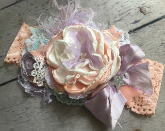 Star bright flower headband cozette couture