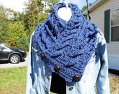 Reserved for Joanna B Fisherman's wife Crochet Cowl by kams-store.com