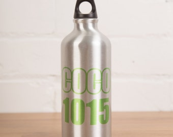 Personalised bottle-Personalised water bottle-roller derby-name and number-sports bottle-personalized-sports-bottle