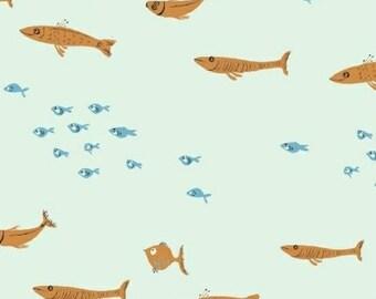 Mendocino by Heather Ross - Swim Class in Light Blue (40942-7) - 1 Yard