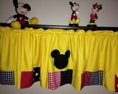 Mickey Mouse patchwork valance