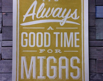 Always a Good Time for Migas art print