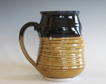 Twisted Mug, 18 oz, handmade ceramic cup, ceramic stoneware mug, coffee cup