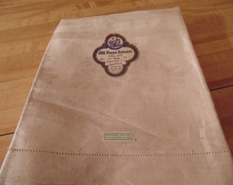 Rare NOS Pure Linen from Czechoslovakia