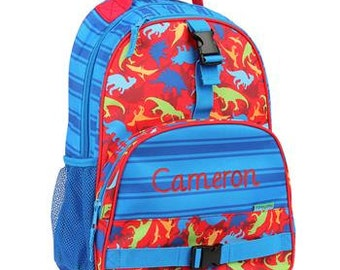 Personalized Monogrammed Stephen Joseph All over print Dino Backpack --Fast Turnaround--Free Monogramming--