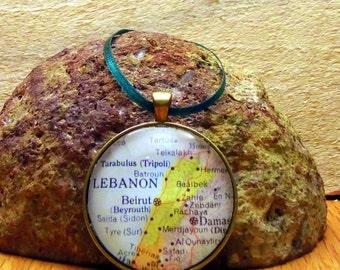 Lebanon Map Christmas Ornament,  Keep a memory Alive / HONEYMOON Gift / Wedding Map Gift / Travel Tree Ornament / Corporate gift