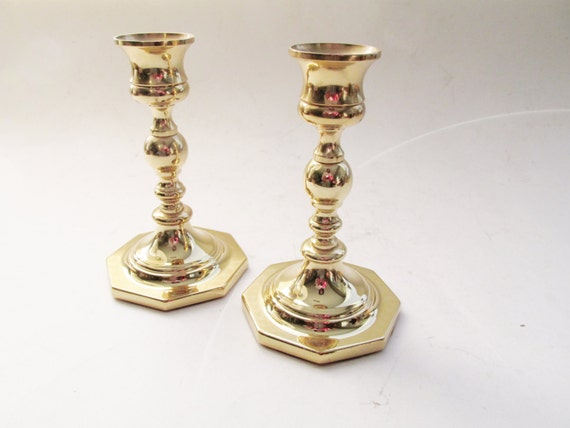 Vintage Baldwin Candlesticks, Brass Candleholders, Traditional Decor