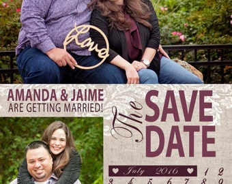 Save the Date - Rose & Burlap