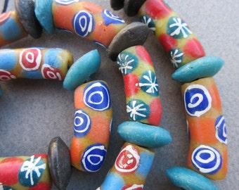 Mixed Ghana Glass Beads