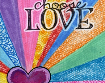 Choose Love JUMBO magnet