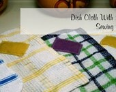 DishCloths with Scrubbing Patch - Dishwashing Cloth and Scouring Pad