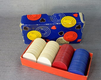 Very Cool Poker Chip Set from 50's