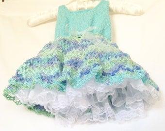 Mint Green Easter Sundress, Aqua Summer Sundress, Aqua Sundress, Aqua Spring Dress, Baby Sundress, Toddler Sundress