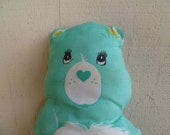 "Vintage Care Bear ""Wish Bear"" Cloth Doll Pillow"