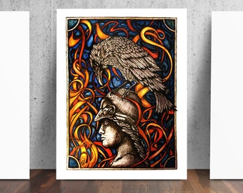 The Raven Edgar Allan Poe Embers Digital Print by Catherine Paschal Dolch