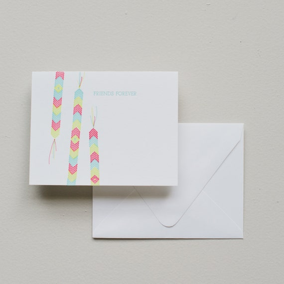 Letterpress Card - Friendship Bracelet