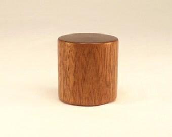 """Wood Lamp Finial Black Walnut Drum Pattern 9, 1.5"""" tall x 1.5"""" dia"""