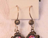 Earrings, Jewelry, New, High Quality, Glass Gems, Steampunk, Banana Bob Findings, Vintage, Victorian