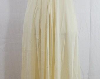 fall sale 2016 Vintage Gossard Artemis Light Yellow Cream 50s Long Nightgown Size M USA made
