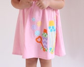 Bubbles Dress - Summer Dress- Personalized Dress- You Choose Dress Color and Sleeve Length